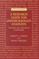 Cover of: A research guide for undergraduate students