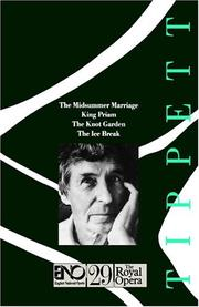 Cover of: The operas of Michael Tippett