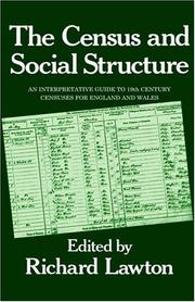 Cover of: The Census and social structure | edited by Richard Lawton.