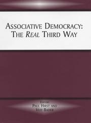 Cover of: Associative Democracy