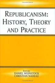 Cover of: Republicanism | D. Weinstock