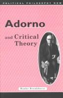 Cover of: Adorno and critical theory