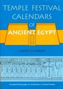 Temple festival calendars of ancient Egypt by Sherif El-Sabban