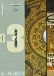 Cover of: Places of Worship (Architecture 3s) Sir Christopher Wren, Joze Plecnik, Tadao Ando