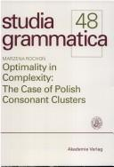 Cover of: Optimality in complexity