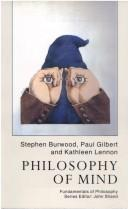Cover of: Philosophy of mind | Stephen Burwood