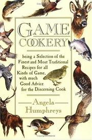Cover of: Game cookery