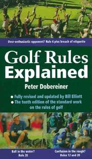 Cover of: Golf rules explained