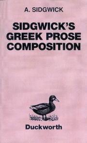 Sidgwicks Greek prose composition