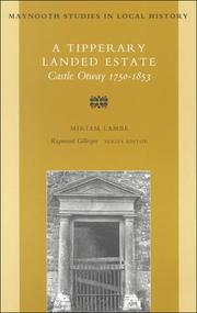 Cover of: Tipperary landed estate | Miriam Lambe