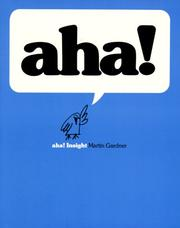 Cover of: Aha! Insight: [framed drawings by Jim Glen, diagrs. by Felix Cooper].