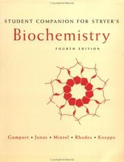 Cover of: Student companion for Stryer's Biochemistry