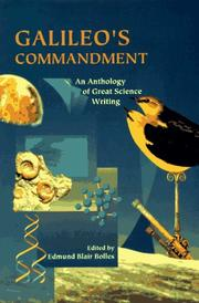 Cover of: Galileo's commandment | edited by Edmund Blair Bolles.