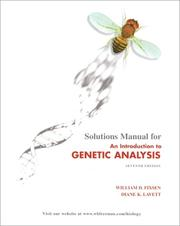 Cover of: Solutions manual for An introduction to genetic analysis, seventh edition by Anthony J. F. Griffiths ... [et al.]