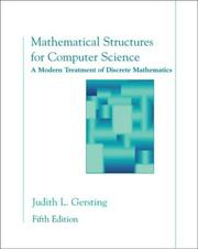 Mathematical structures for computer science by Judith L. Gersting