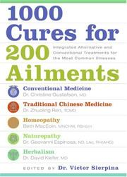 Cover of: 1000 Cures for 200 Ailments | Victor S. Sierpina