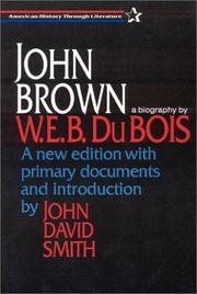 Cover of: John Brown | W. E. B. Du Bois