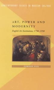 Cover of: Art, power, and modernity