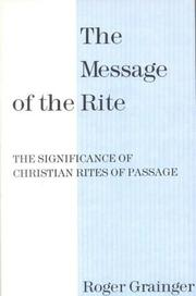 Cover of: Message of the Rite P | Roger Grainger