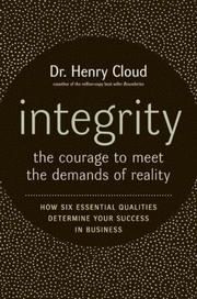 Cover of: Integrity LP: The Courage to Face the Demands of Reality (Haprer Large Print)