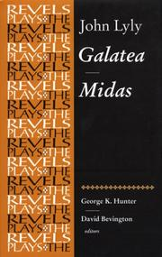 Cover of: Galatea and Midas (The Revels Plays)