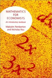 Cover of: Mathematics For Economists | Malcolm Pemberton