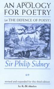 Cover of: An apology for poetry, or, The defence of poesy