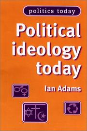 Cover of: Political Ideology Today (Politics Today)