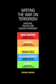 Cover of: Writing the War on Terrorism | Richard Jackson