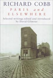 Cover of: Paris and Elsewhere | Richard Cobb