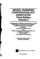 Cover of: Model business corporation act annotated |