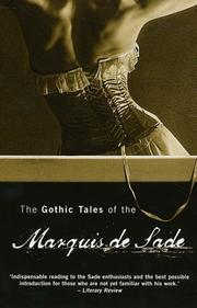 Cover of: The Gothic Tales of the Marquis De Sade