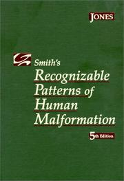 Cover of: Smith's recognizable patterns of human malformation