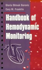 Cover of: Handbook of hemodynamic monitoring