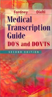 Cover of: Medical transcription guide: do's and don'ts