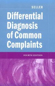 Cover of: Differential Diagnosis Common Complaints