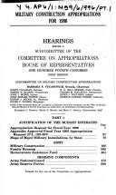 Cover of: Military construction appropriations for 1996: Hearings before a subcommittee of the Committee on Appropriations, House of Representatives, One Hundred Fourth Congress, first session