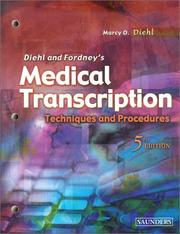 Cover of: Diehl and Fordney's medical transcription