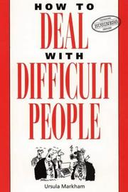 Cover of: How to Deal With Difficult People (Thorsons Business)