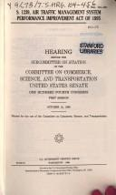 Cover of: S. 1239, Air Traffic Management System Performance Improvement Act of 1995