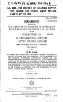 Cover of: H.R. 2108--the District of Columbia Convention Center and Sports Arena Authorization Act of 1995