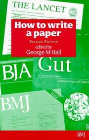 Cover of: How to Write a Paper | G M Hall