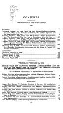 Cover of: Hearings on National Defense Authorization Act for fiscal year 2000--H.R. 1401 and oversight of previously authorized programs before the Committee on Armed Services, House of Representatives, One Hundred SixthCongress, first session
