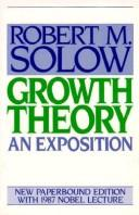 Cover of: Growth theory