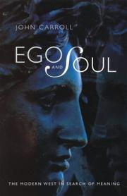 Cover of: Ego and Soul | John Carroll