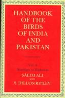 Cover of: Handbook of the birds of India and Pakistan, together with those of Bangladesh, Nepal, Bhutan, and Sri Lanka