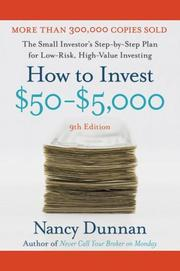 Cover of: How to Invest $50-$5,000 9e