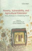 Cover of: Poverty, vulnerability, and agricultural extension