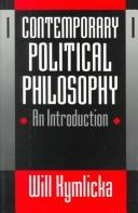 Cover of: Contemporary political philosophy | Will Kymlicka