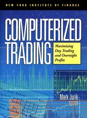 Cover of: Computerized Trading | Mark Jurik